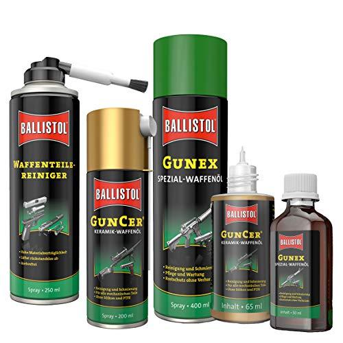 BALLISTOL Waffenpflege Set Gunex Spezial-Waffenöl Teilereiniger GunCer Keramiköl