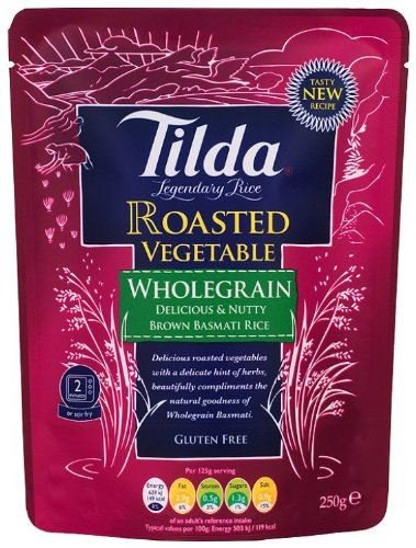 Tilda gedampfter Reis rote Paprika & Zucchini - 250g x 6 - 6 -er Pack