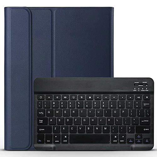 Teclado Bluetooth para Tableta Caja de Tableta de Teclado Bluetooth para Samsung Galaxy Tab S6 Lite 10.4 P610 P615 SMP610 SMP615 Teclado inalámbrico Tableta Tableta Tablet con Funda (Color : Blue)