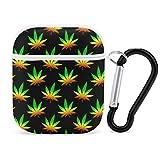 Funda Protectora de Marihuana Weed AirPods, Funda Protectora, Accesorios para Hombres, Mujeres, niñas, Compatible con Apple AirPods 2 y 1