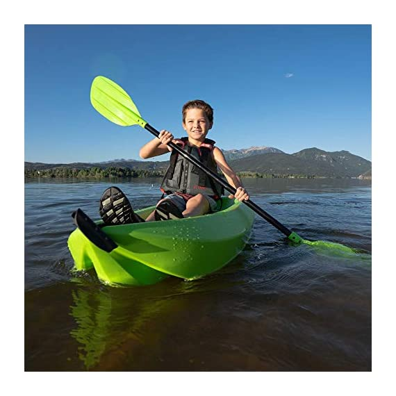 Lifetime Youth 6 Feet Wave Kayak with Paddle 6 Perfect for Kids of All Ages Molded Finger Handles on Each Side of Kayak Swim-Up Step