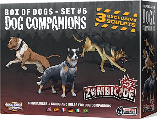 Cool Mini or Not 901565 - Zombicide - Dog Companions, Brettspiele
