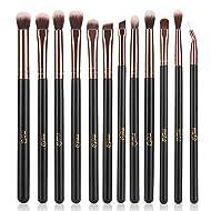 MSQ 12pcs Pro Smoky Eye Makeup Brushes Set, Synthetic Eyeshadow Brushes Eye Makeup Brush Set Conceal...