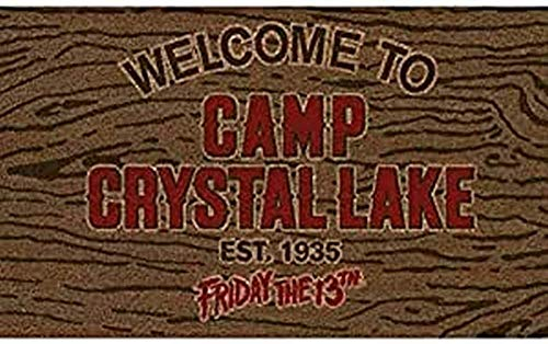 Pyramid Felpudo Welcome To Camp Crystal Lake Doormat Friday The 13Th Official Merchandising Referencia DD Textiles del hogar Unisex Adulto, Multicolor, única