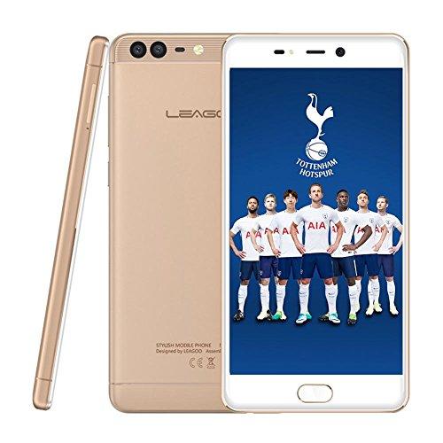 Prosperail LEAGOO T5C Android 7.0 Octa-Core 4G Phone con Memoria RAM 3GB ROM 32G de Memoria Gold