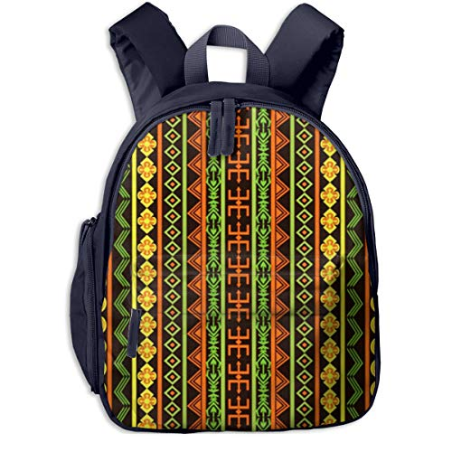 Sac à Dos pour Enfant Maternelle Tapis Africain Multicolore Ethnique Sacs D