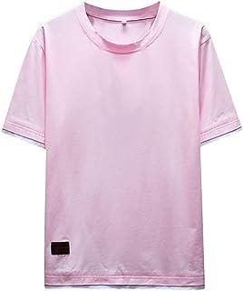 メンズ トップス Tシャツ 半袖 無地 ティーシャツ 日韓風 ゆったり 夏服 柔らかい リラックス カジュアル Keysims 薄手 男女兼用 速乾 ファション シンプル 彼氏 男性 かっこいい 細身 父の日 通学 学生 大きいサイズM-5XL