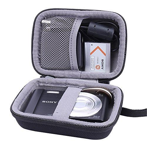 Hart Taschen Hülle für Sony DSC-W810/W800/W830 Digitalkamera von Aenllosi (Schwarz)