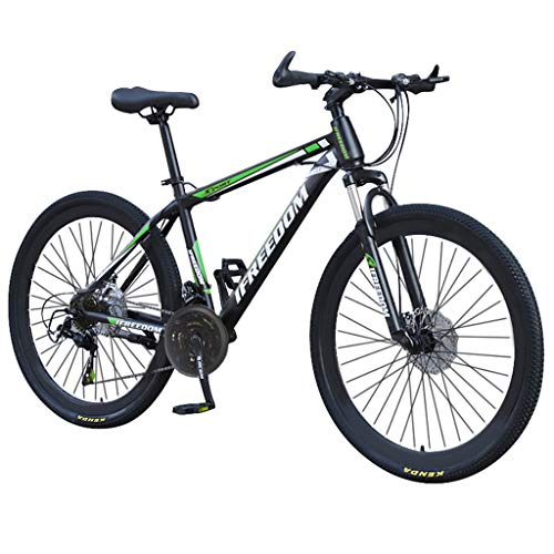 Bike 26 Pollici Mountain 21 velocità, Cruiser Bicycle Beach Ride Travel Sport, Doppio Freno a Disco, per Adulti, Mountain Sedile Regolabile Cruiser Bicycle (Verde)