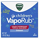 Vicks VapoRub Children's Chest Rub Ointment, 1.76 oz - Relief from Cough, Cold, Aches, and...