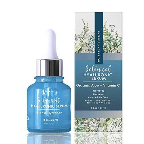ZONE - 365 Hyaluronic Acid Serum for Face 20%; Moisturizes & Plumps Skin; with Vitamin C, E, Aloe; 1 fl oz