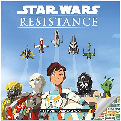 Star Wars Resistance Calendar 2020 Set -- Deluxe 2020 Star Wars Wall Calendar with Over 100 Calendar Stickers (Star Wars Office Supplies)