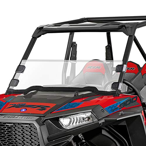 AURELIO TECH Clear UTV Half Windshield for 2020 RZR 900, 2020 RZR S 1000, 14-18 Polaris RZR XP 1000, 14-18 XP4 1000, 15-18 RZR 900, 15-18 RZR S900, 15-18 RZR XC900, 14-18 RZR 1000, 16-18 XP Turbo