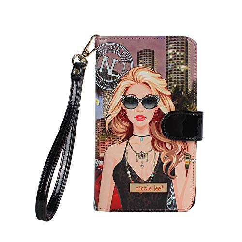 Nicole Lee Funda Universal para celular DIVSHA estilo cartera con compartimentos para tarjetas y correa…