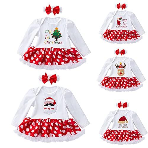 YQSR Vestido de Navidad para niña, 2 unidades
