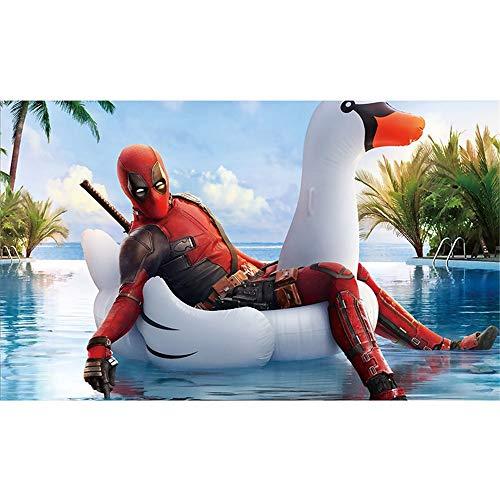 Wandaufkleber Deadpool Film League Wasserdichter Poster-Wandaufkleber - 90 X 60 Cm (36 X 24 Zoll) Leicht Klebende Pads Mit Selbstklebender Folie, O
