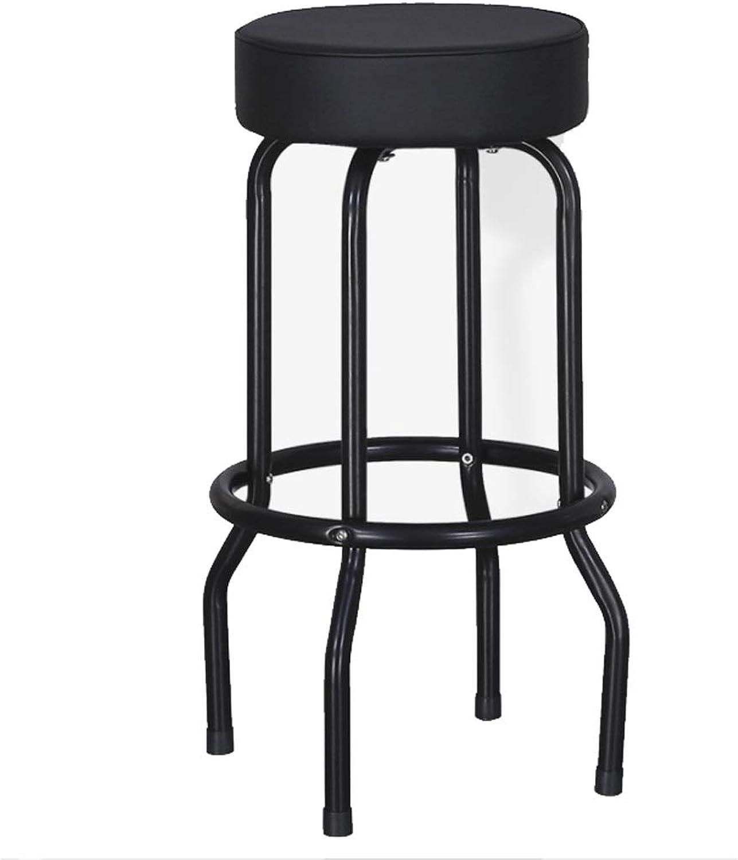 Home Leisure Chair Stool Bar Chair Bar Stool High Chair Stool Non-Slip Mat - Black color