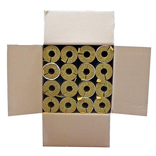 Austroflex Karton 12m Steinwolle Rohrschale alukaschiert 35 mm x 34 mm 100% EnEV Mineralwolle Rohrisolierung Steinwoll-Rohrschalen