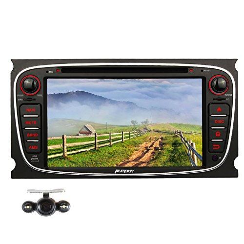 Pumpkin 7 Zoll Quad Core Android 5.1 HeadUnit Double DIN Auto DVD Player Stereo für Ford Focus Mondeo Galaxy S-max Unterstützung Mirrorlink GPS SWC DVD 3G WiFi Cam-in OBD2 DAB+