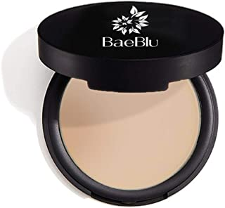 BaeBlu Organic Setting Powder, Extend Makeup Wear Time, Minimize Oil and Pores, Sheer Medium