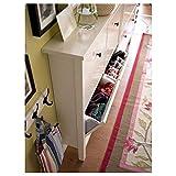 IKEA HEMNES zapatero con 4 compartimentos 107x22x101 cm blanco