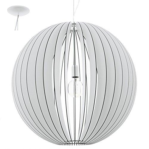 Preisvergleich Produktbild EGLO 94441 A++ to E,  Hängeleuchte,  Stahl,  E27,  70 x 70 x 200 cm,  Ø 70 cm,  Weiß