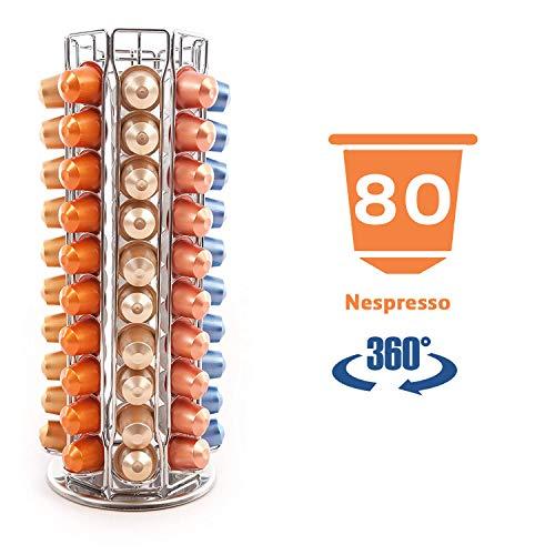 Peak Coffee N80 Drehbarer Halter Kapselständer zur Aufbewahrung von Nespresso Kaffee Pod Kapsels