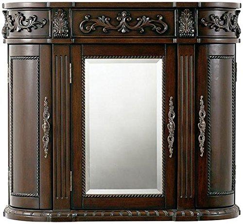 Home Decorators Collection Chelsea 3 Door Mirror Wall Bath Cabinet, 28' Hx31.5 Wx8.5 D, Antique Cherry
