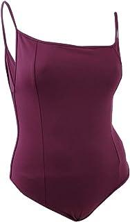 Free People Women's Top Purple US Large L Knit Bodysuit Square Neck