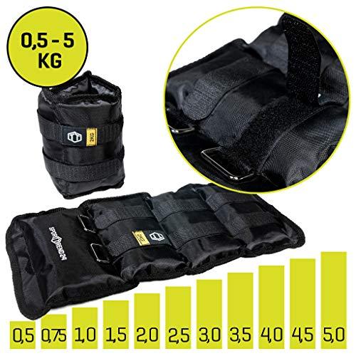 Sporttrend 24 | Gewichtsmanschetten 0,5-5,0kg im Set starker Klettverschluss | für Kraft und Ausdauerübungen (3,5kg)