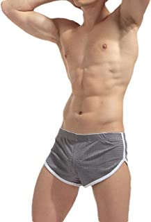 Men Underwear Comfort Elastic Waist Sport Breathable Boxer Briefs