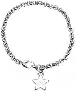 c8e3a72432fc40 GUCCI Bracelet Trademark With 3 Star Pendant Silver YBA356212001018