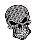 Motero Gótico Skull Diseño con Controlador Placa con Cuadrados Metal Modelo Vinilo Etiqueta Engomada Etiqueta de Coche Bicicleta 110x75mm por Ctd