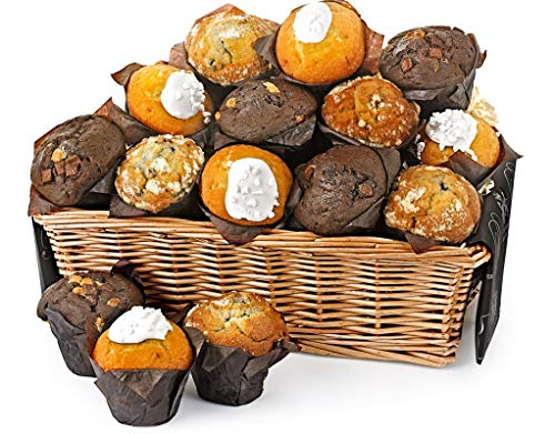 Fresh Muffin Share Basket - Medium - Hand Wrapped Gourmet Food Basket, in Gift Hamper Box