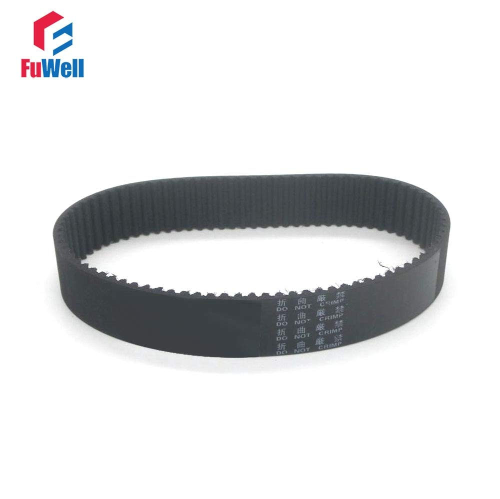 Width: 15mm, Length: 345mm Ochoos 2pcs HTD3M Timing Belt 345//348//351//354//357//360//363//366//369//375//381-3M Gear Belt Closed Loop 15mm Width Rubber Transmission Belt