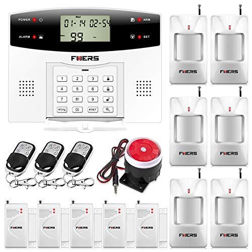 Fuers–G2Kit Alarma Casa inalámbrica GSM/PSTN, IR infrarrojo Detector Movimiento de apertura de puerta/ventana, mando a distancia