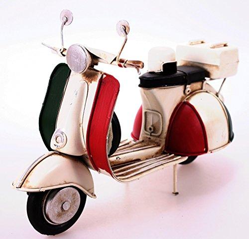 Oldtimer Motorroller rot 27 cm Nostalgie Metall Blech Motorrad Vespa Italien