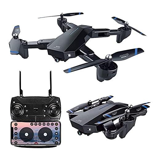 Drone FPV con fotocamera per adulti 4K HD video in diretta e GPS ritorno a casa, elicottero quadricottero RC per bambini principianti 20 minuti volo a lungo raggio con funzioni Follow Me Selfie