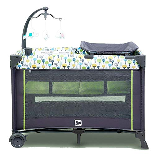 Buy Yyqt Baby Cot,Classic Travel Cot Playpen with Mattress and Carry Bag (Color : Green)
