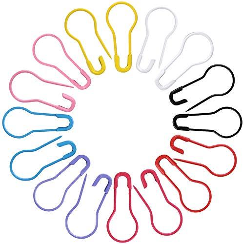 TOMYEER 160 Stück Glühbirnen-Stifte, Kalebasen-Anstecknadeln, Sicherheitsnadeln, 8 Farben