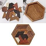 PENG 3D Juego de Rompecabezas de Madera Chino Chexagon Modelo Rompecabezas Bloques de construcción de Rompecabezas