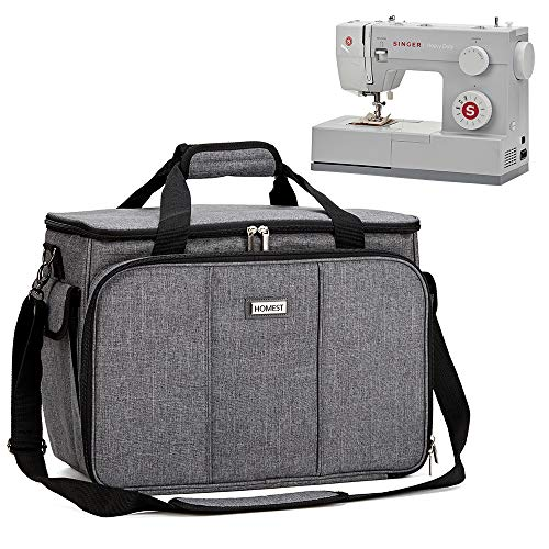 Discover Bargain HOMEST Sewing Machine Carrying Case with Multiple Storage Pockets, Universal Tote B...