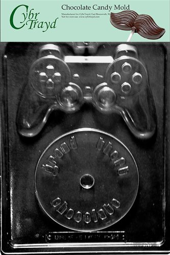 Cybrtrayd M216 Video Game Kit Chocolate Candy Mold with Exclusive Copyrighted Molding Instructions