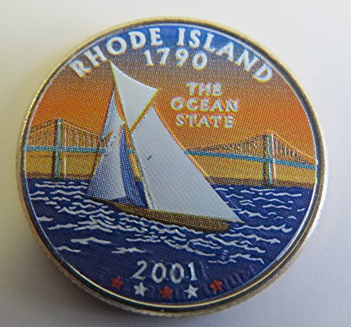 2001 Various Mint Marks Rhode Island State Colorized Quarter Choice Uncirculated