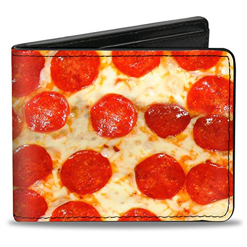 Buckle-Down PU Bifold Wallet - Pepperoni Pizza Vivid