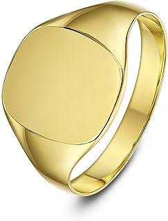 Theia 9 克拉金色垫形特重女士图章戒指