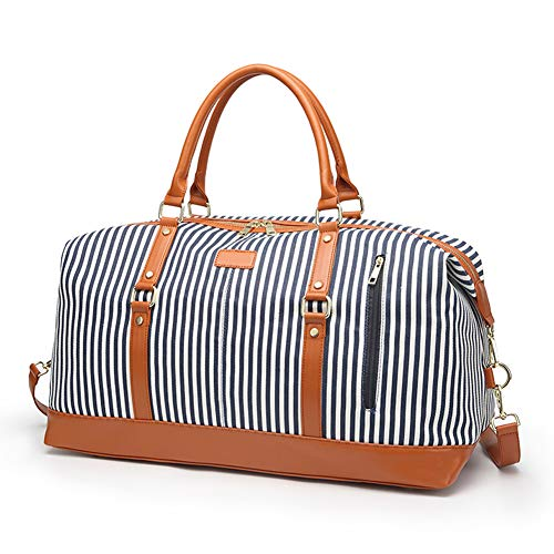 ZYSY Oversized Weekend Bag Women Duffle Bag Travel Overnight Bag Men Carry-on Satchel Bag Unisex Canvas Holdall