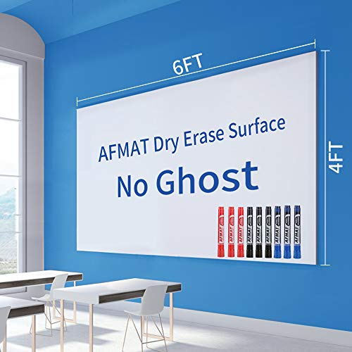 White Board Sticker, Whiteboard Paper, White Board Stickers for Wall, Dry Erase Paper, Whiteboard Film Surface for Walls/Doors/Tables/Chalkboards, 6x4 ft, 12 Whiteboard Markers