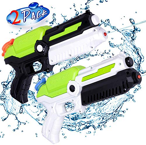 MOZOOSON 2 Pack Water Guns for Kids, Toys for 3 4 5 6 7 Years Old Boys Girls, Small Water Pistols Squirt Guns for Outdoor Summer Fun Water Battle Pool Garden Party, Gifts for Kids Toddlers