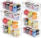 KICHLY Organizadores para la despensa - Juego de 8 (4 grandes, 4 pequeños) - Compartimentos de...